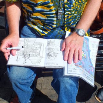 The Littlehampton Architectural Sketch Crawl – curated by Steve Caroll Art Historian & Tutor