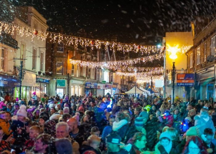 Christmas Lights Switch on and Late-Night Shopping