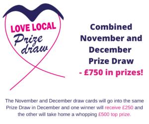 Love local prize draw logo